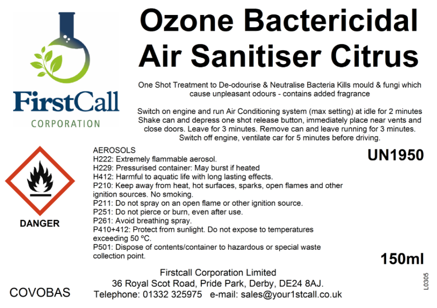Ozone Bacterial Air Sanitiser