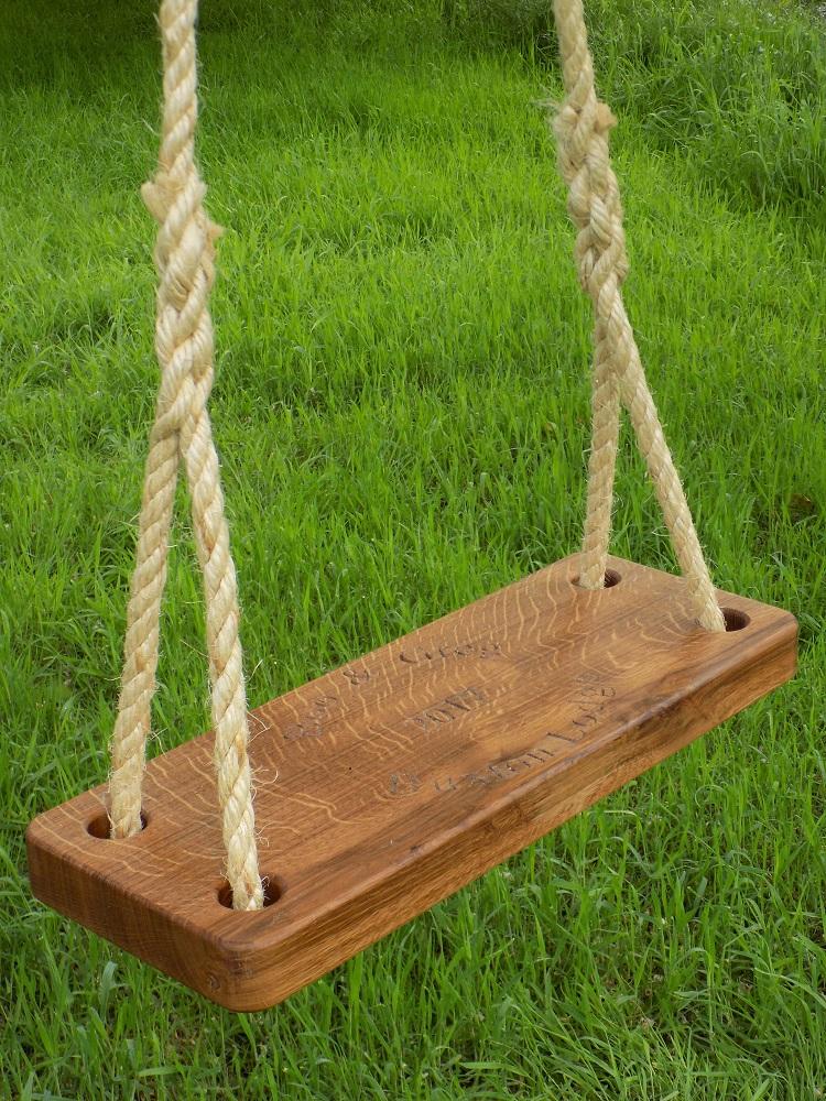 Oak Swing Seat