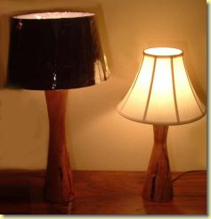Hand Crafted Wood Lamp Stands