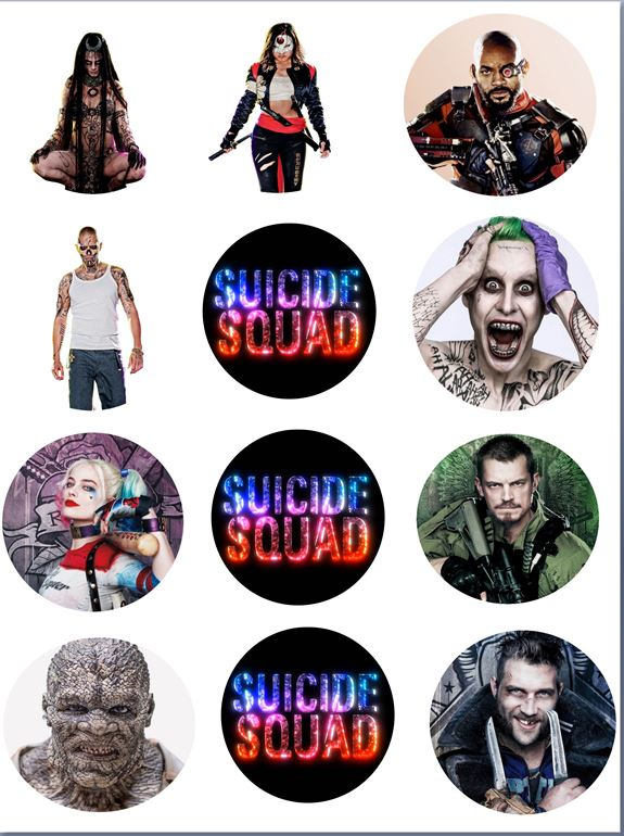 Suicide squad Cupcake toppers