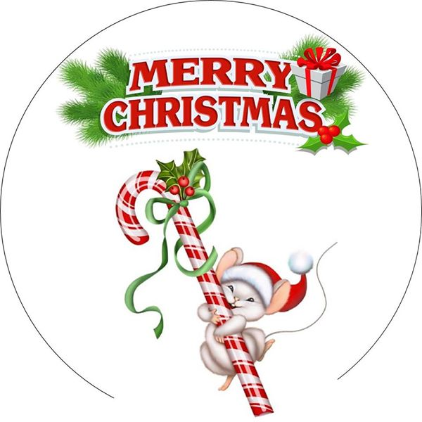Blue Reindeer Christmas topper