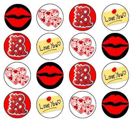 Love x 16 cupcake toppers