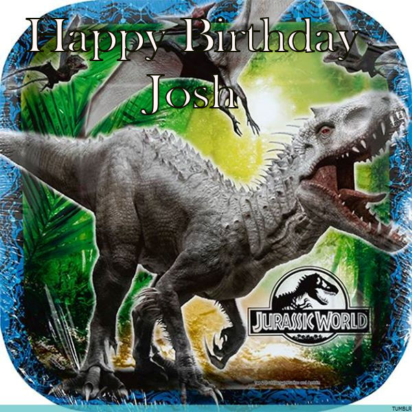Jurassic park Cake Topper With Name