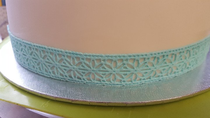 Long Daisy Strip Edging Lace Ready Made