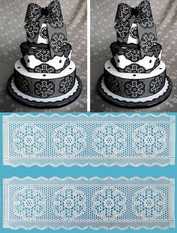 Large Flower Lace Border Lace Ready Made