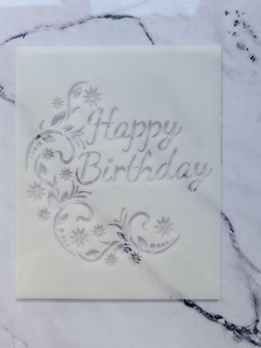 Happy Birthday Fancy Stencil