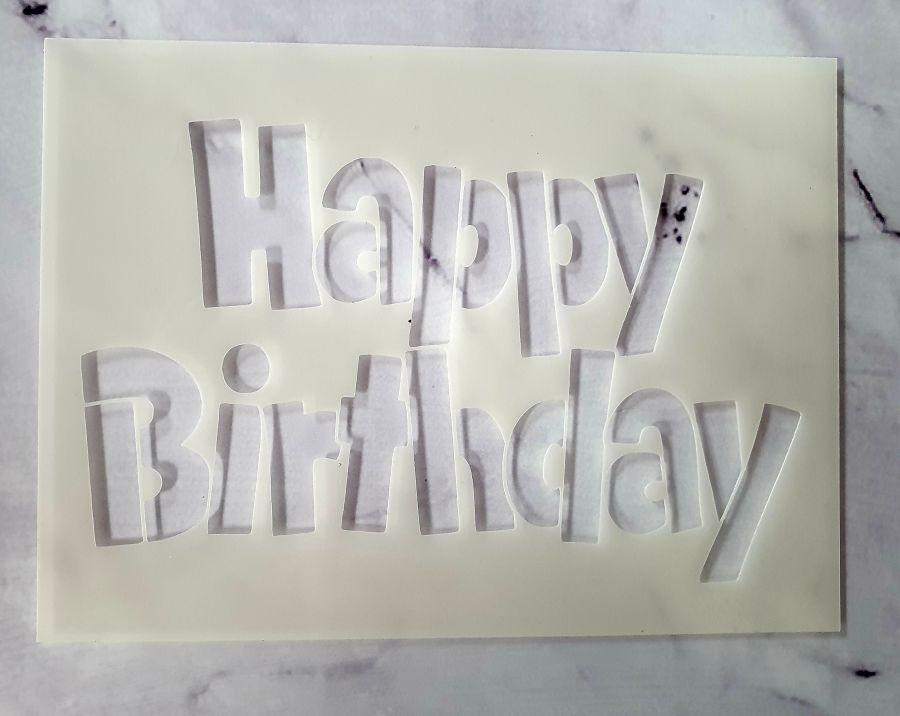 Happy birthday Block stencil