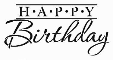 Happy birthday dot stencil