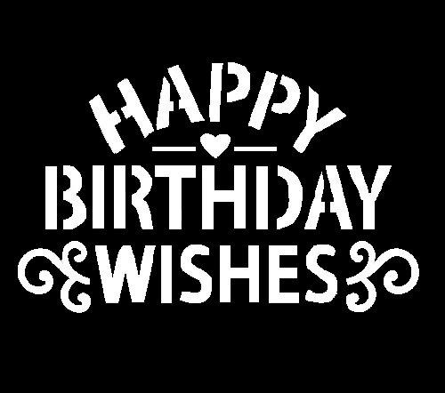 Happy birthday wishes stencil