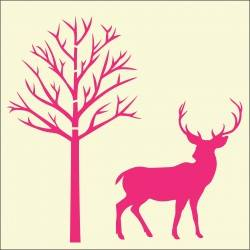 reindeer and tree stencil