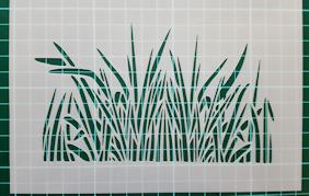 Grass Border stencil cake decorating