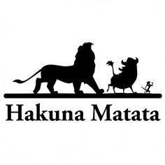 lion king kahuna matata stencil
