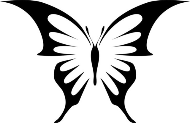 Butterfly stencil cake decorating