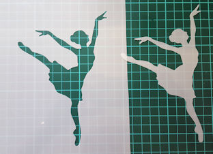 Ballet Ballerina lady Stencil