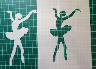 Ballet Ballerina lady Stencil 2