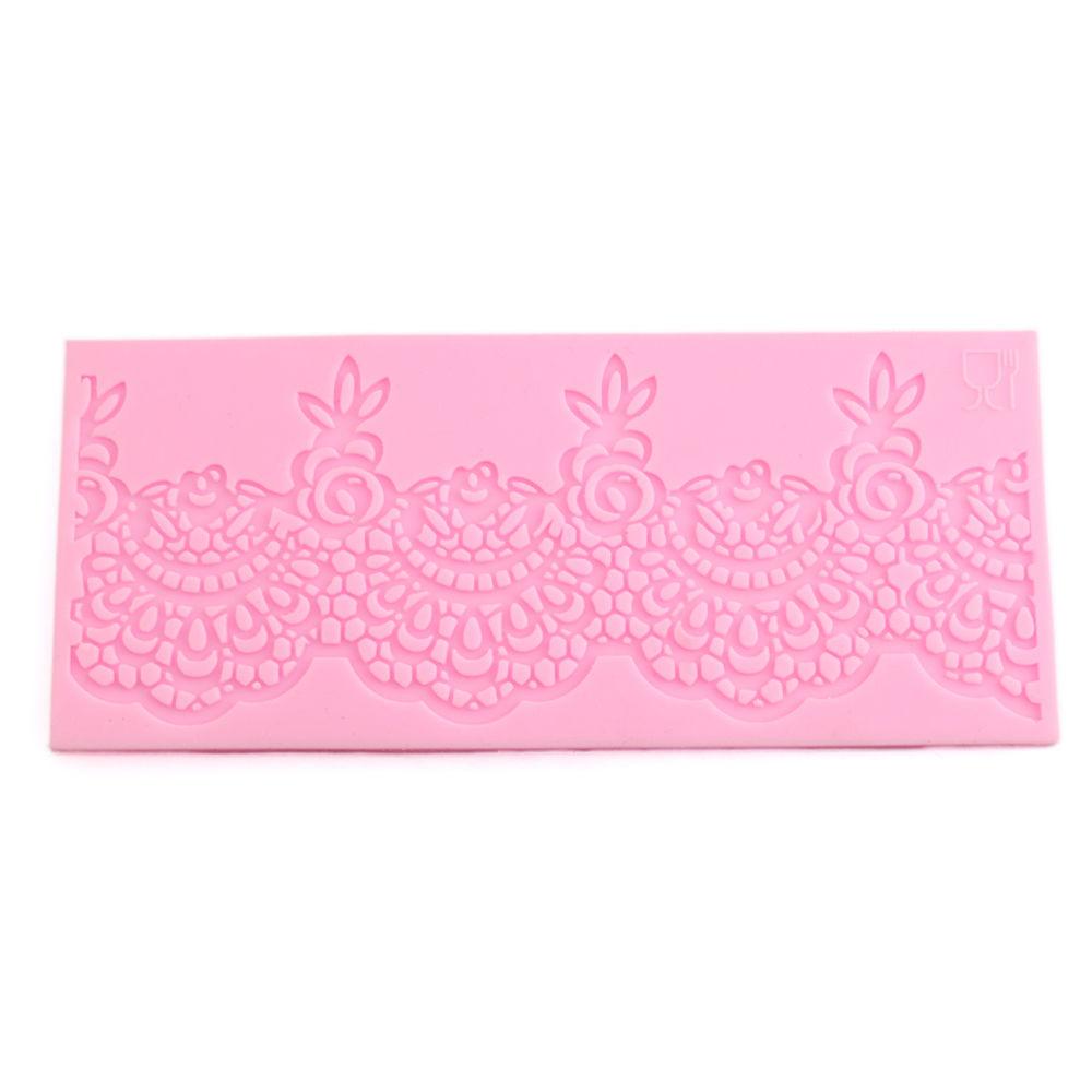 3D Lace Flower Silicone Fondant Mat