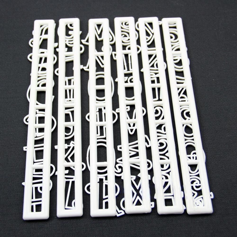 6PCS/set Number Letter Set Cutter