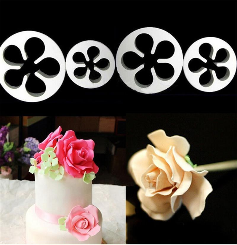 4X Rose Flower Cutter cake decorating