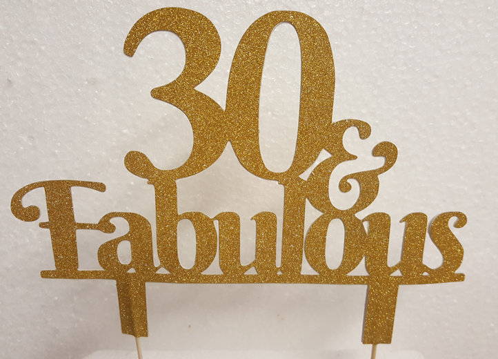 Any age & Fabulous cake card topper