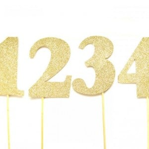 Numbers cake card topper cupcake topper