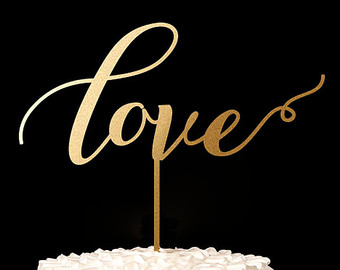 Love cake card topper Cupcake topper