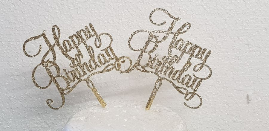 Happy Birthday cake card topper