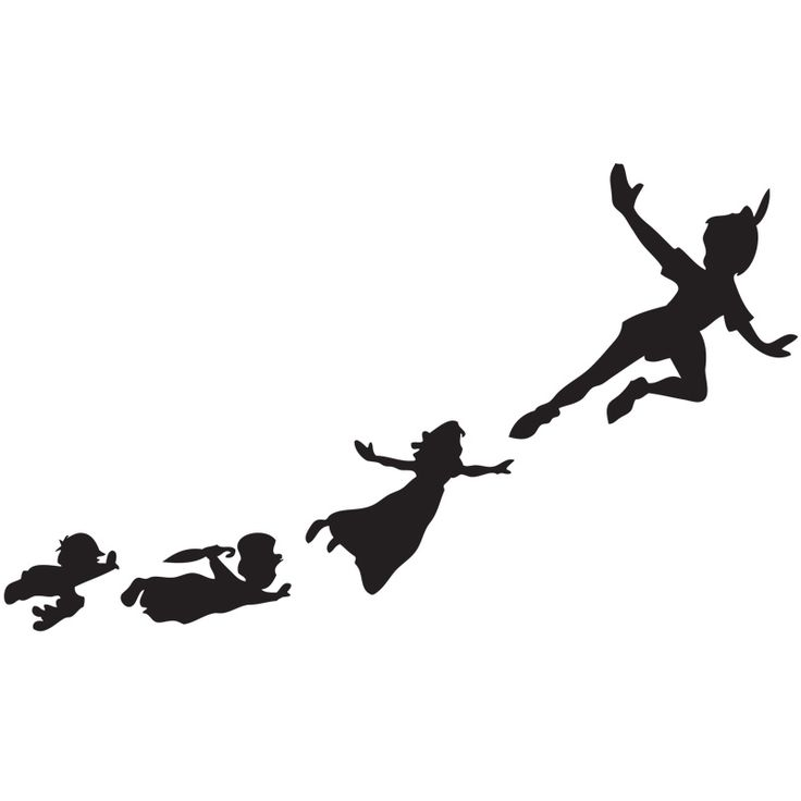 Off to never land peter pan flying stencil