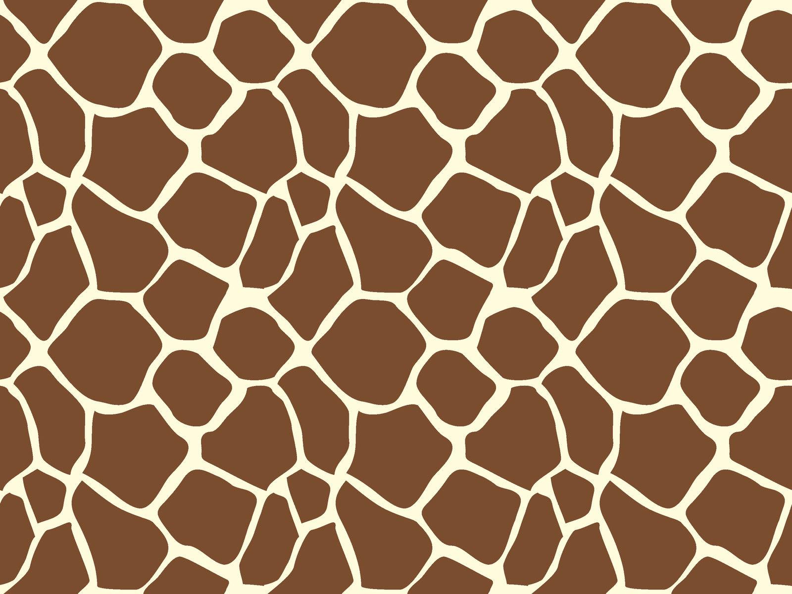 Giraffe Animal Print Pattern Sugar Icing Sheet