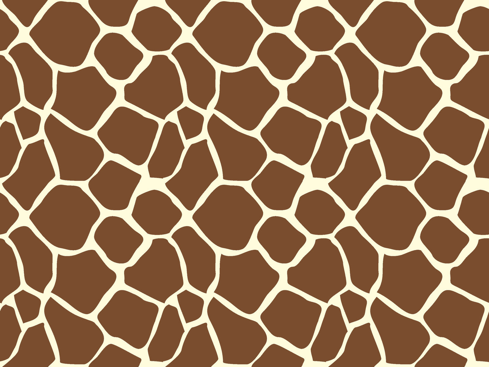 Giraffe Animal Print Pattern Sugar Icing Sheet