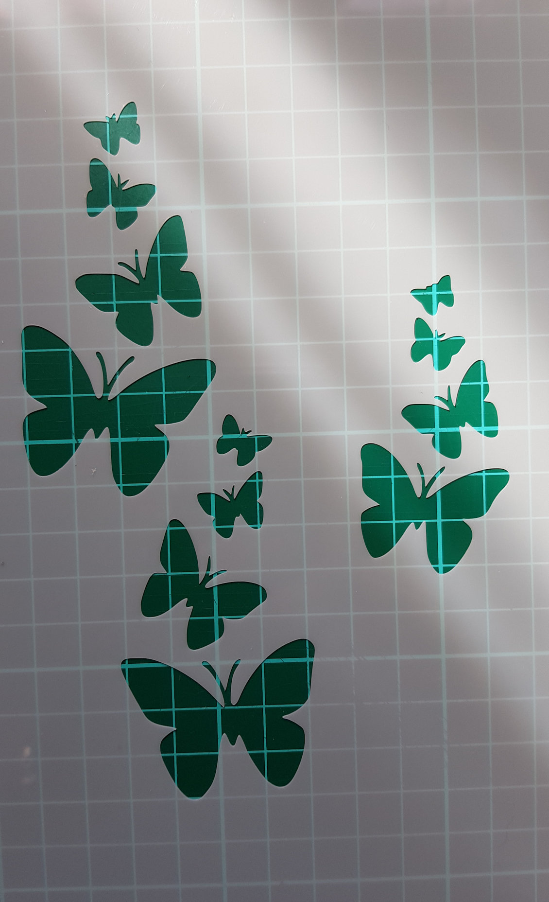 Butterflies stencil cake decorating