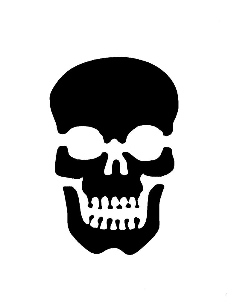 Skull stencil 1