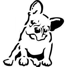 French bulldog stencil  cake decorating