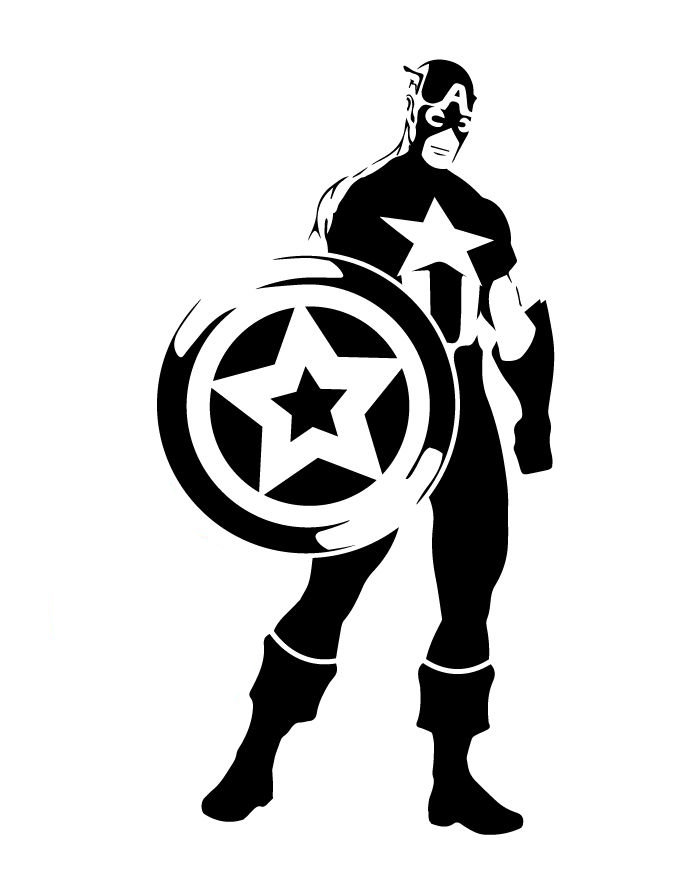Captain America Full body stencil