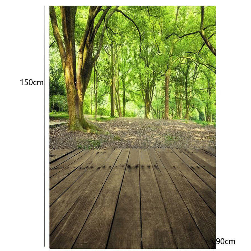 3x5 FT Forest Wood Floor Backdrop