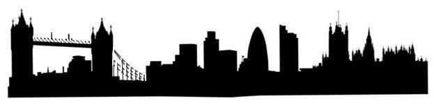 Old London sky line Stencil