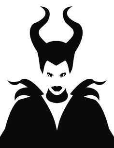 Maleficent stencil cake decorating