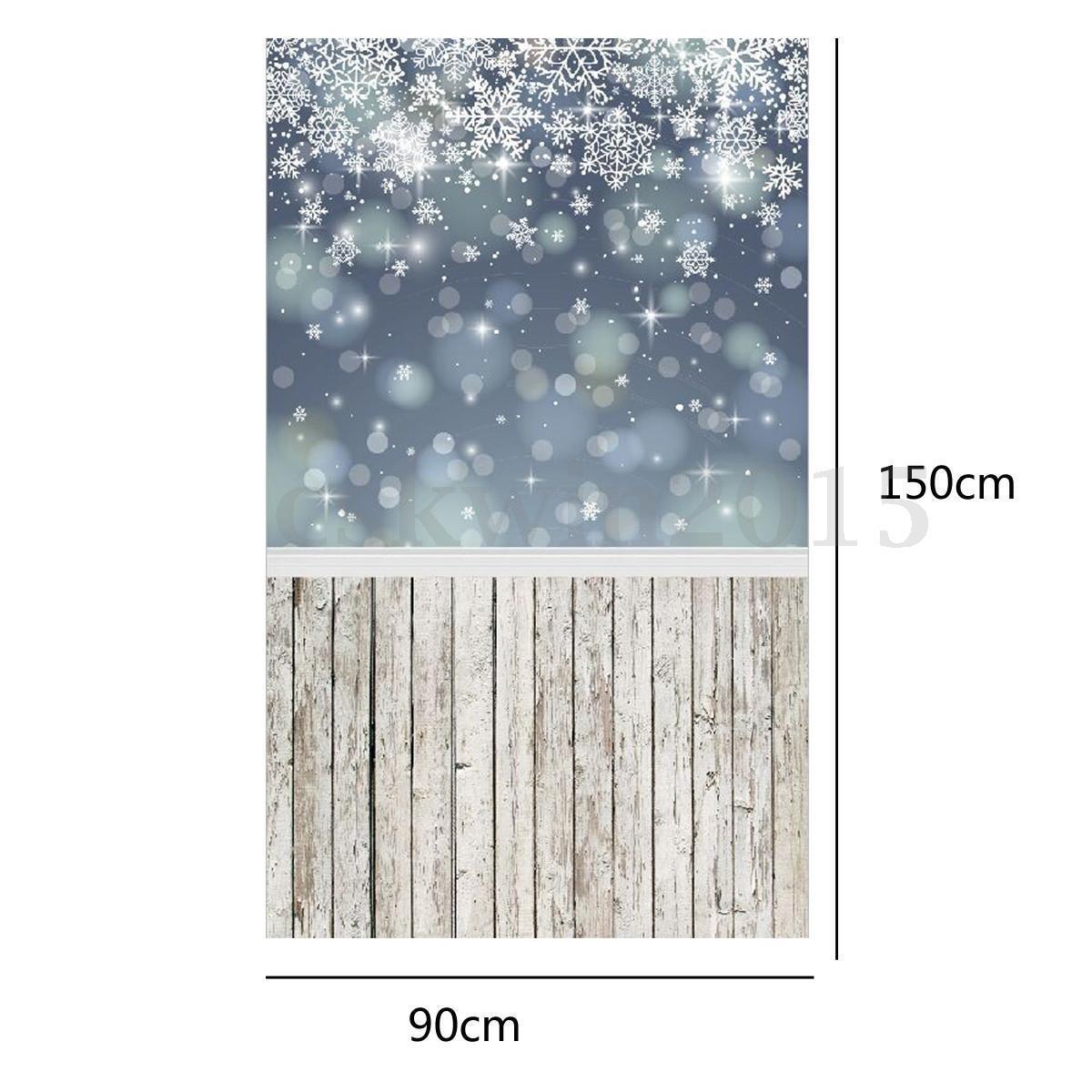 3x5ft Glitter Christmas Snowflake backdrop