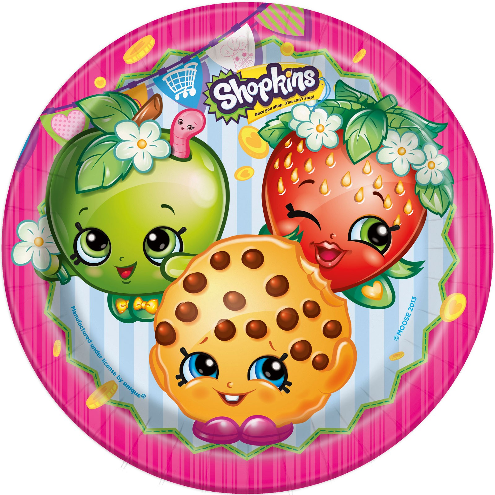 Shopkins cake topper round icing sheet sugar sheet