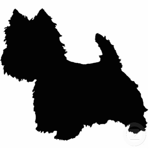 Scottie dog stencil cake decorating