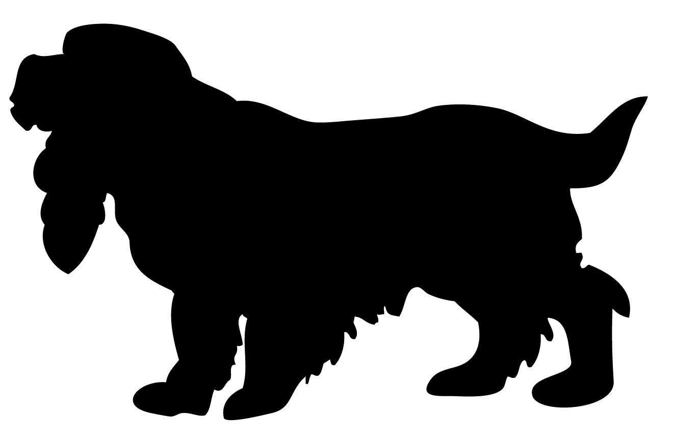 spaniel dog stencil cake decorating