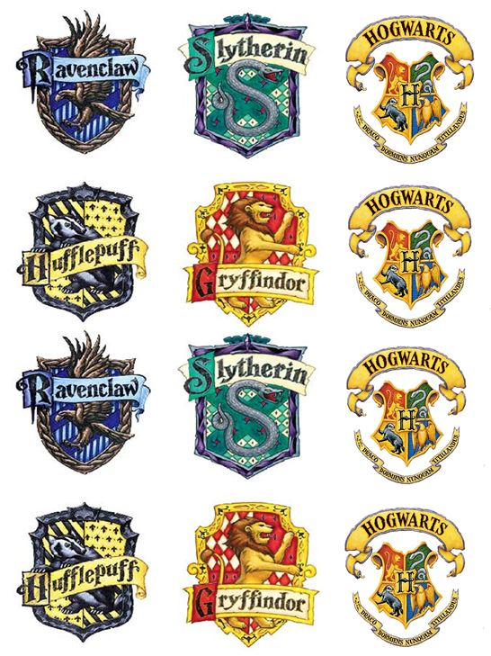 Harry potter cupcake toppers x12
