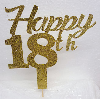 Happy Number cake card topper