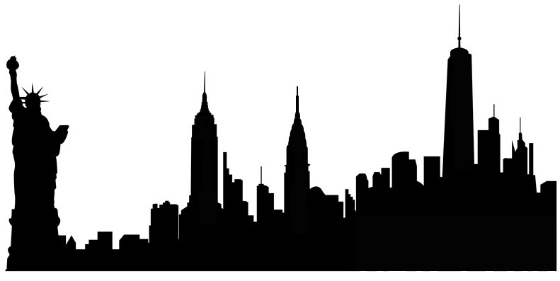New York city sugar silhouette cut out