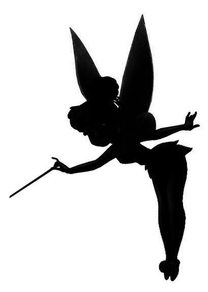 Tinkerbell sugar silhouette cut out