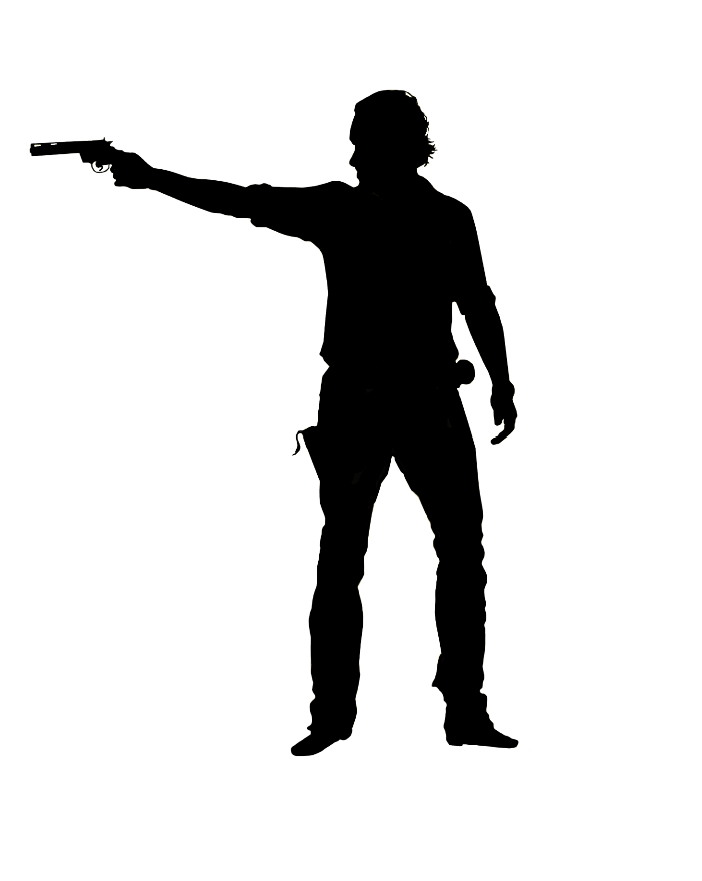 Walking dead rick sugar silhouette cut out