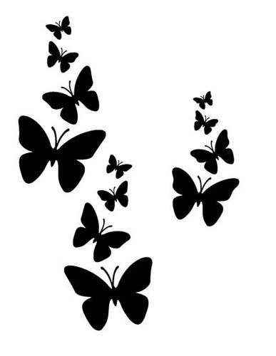 butterflies sugar silhouette cut out