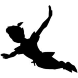 Peter Pan sugar silhouette cut out