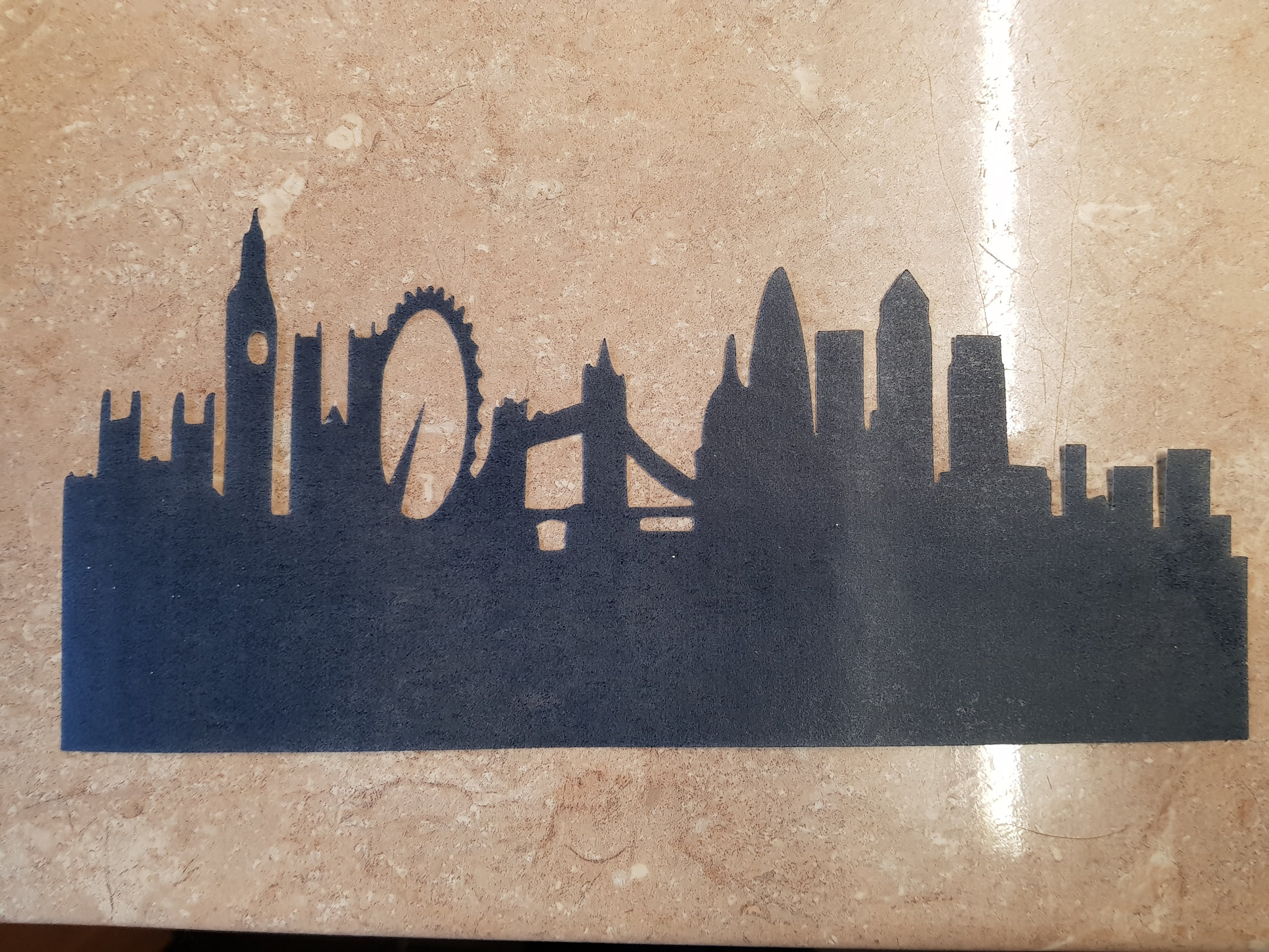 Old london sugar silhouette cut out