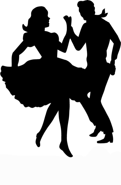 Dancers 2 sugar silhouette cut out