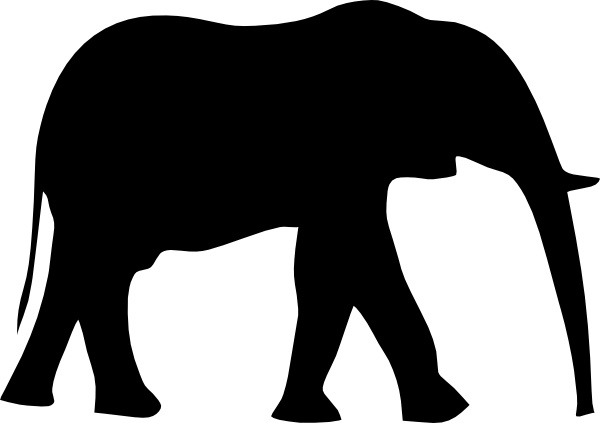 Elephant sugar silhouette cut out